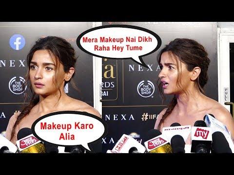 Alia Makeup Nai Kiya !!!! Alia Bhatt Gets ANGRY On Reporter At Iifa Award 2019 Mp3