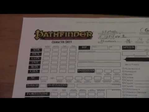 how to make a pathfinder character