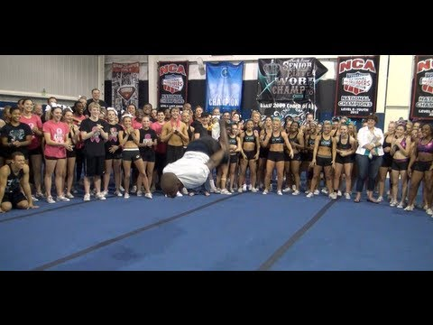 """Cheer Extreme Coach Darnell """"Jumps to back"""" FAMOUS MUST SEE"""