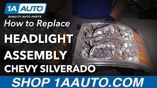 How to Replace Headlights 2008 Chevy Silverado thumbnail