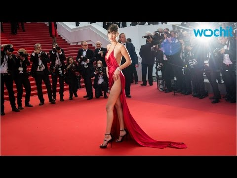 Bella Hadid Braves Cannes Stairs in Scandalous Dress