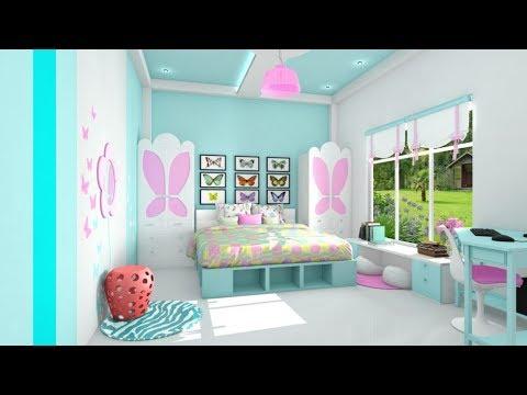 Warna Cat Rumah Yang Bagus Untuk Kamar Tidur Corak Biru Dan