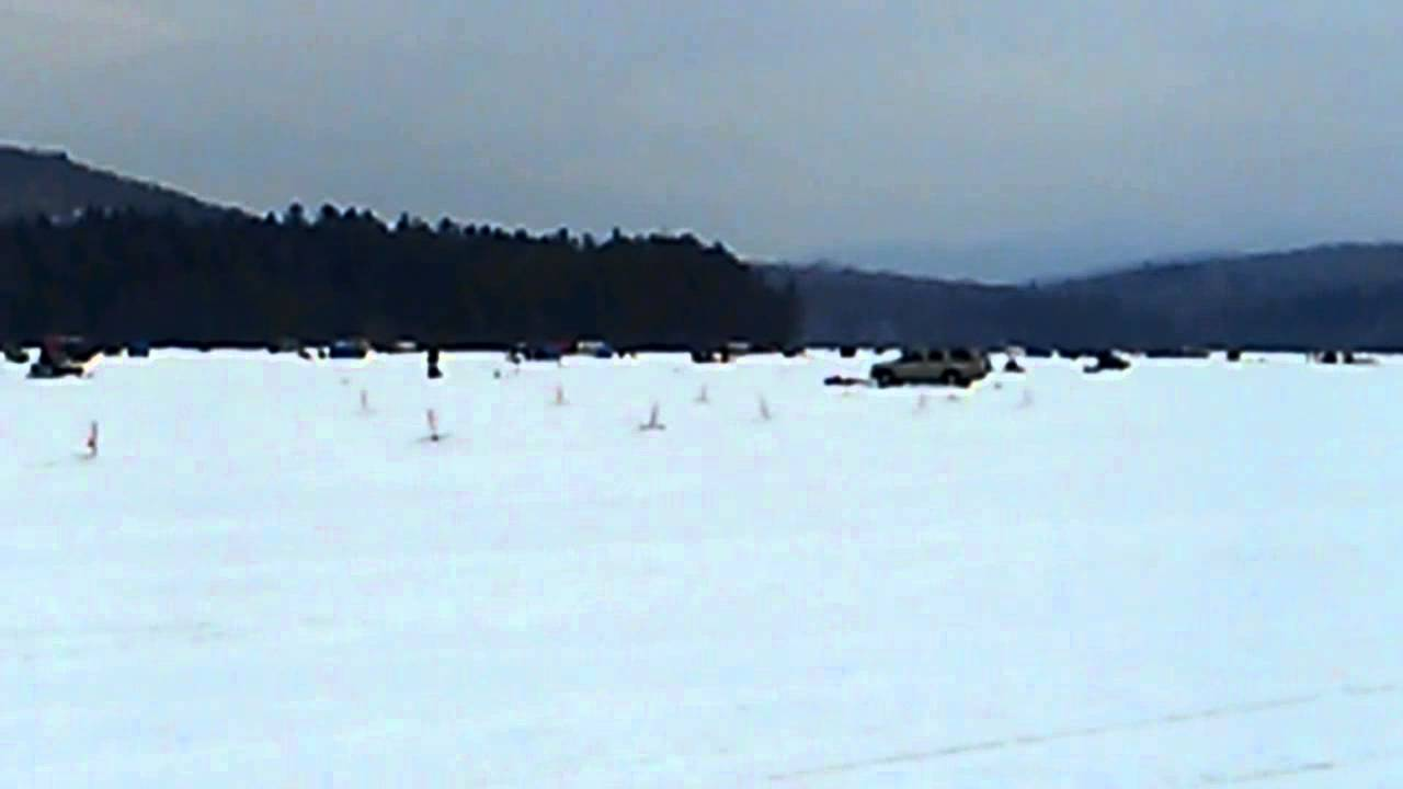 Tupper lake simon pond ny ice fishing derby 2014 youtube for Ice fishing ny