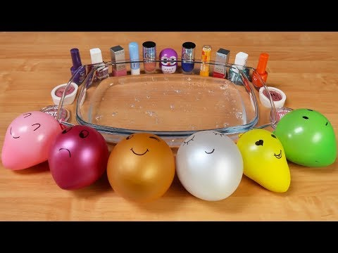 Mixing Makeup and Floam Into Clear Slime ! RELAXING SLIME WITH BALLOONS  Tanya St