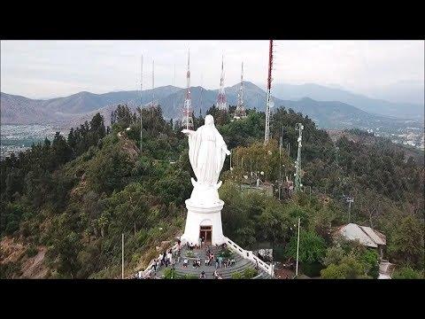 San cristobal hill in Santiago, Chile