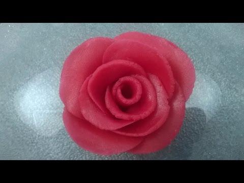 La rose en pâte d'amande - ALP
