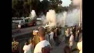 Jet  train cars drag race