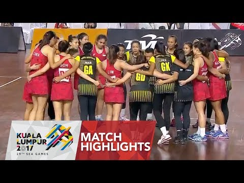 Netball Match Highlights: Brunei 🇧🇳 vs Singapore 🇸🇬 | 29th SEA Games 2017