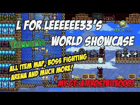 L FOR LEEEEEE33 All Item Terraria World Showcase Xbox 360
