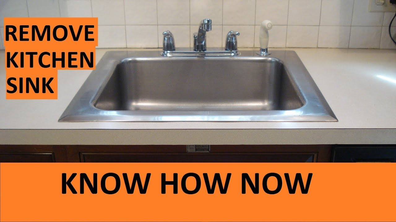 Remove Kitchen Sink Without Damaging Laminate Countertop