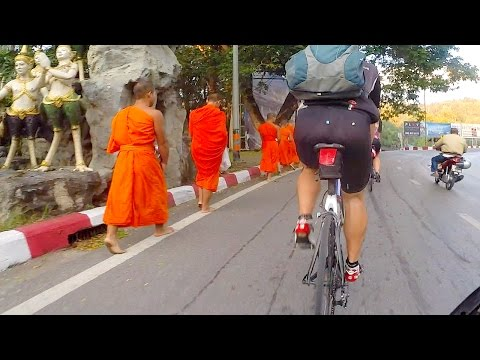 Epic Climb, Summit Of Doi Suthep, Chiang Mai Thailand Cycling Vlog 34 (HD) (GoPro)