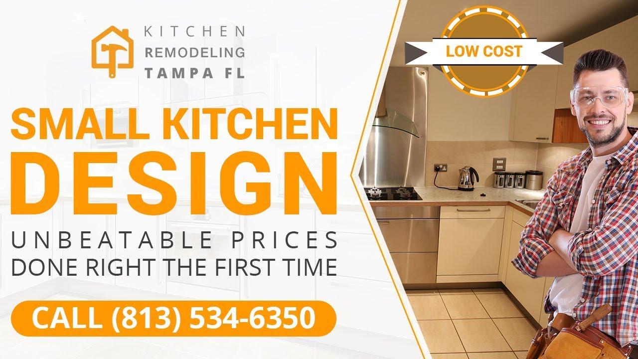 Small Kitchen Design St. Petersburg FL   Call (813) 534-6350 - YouTube