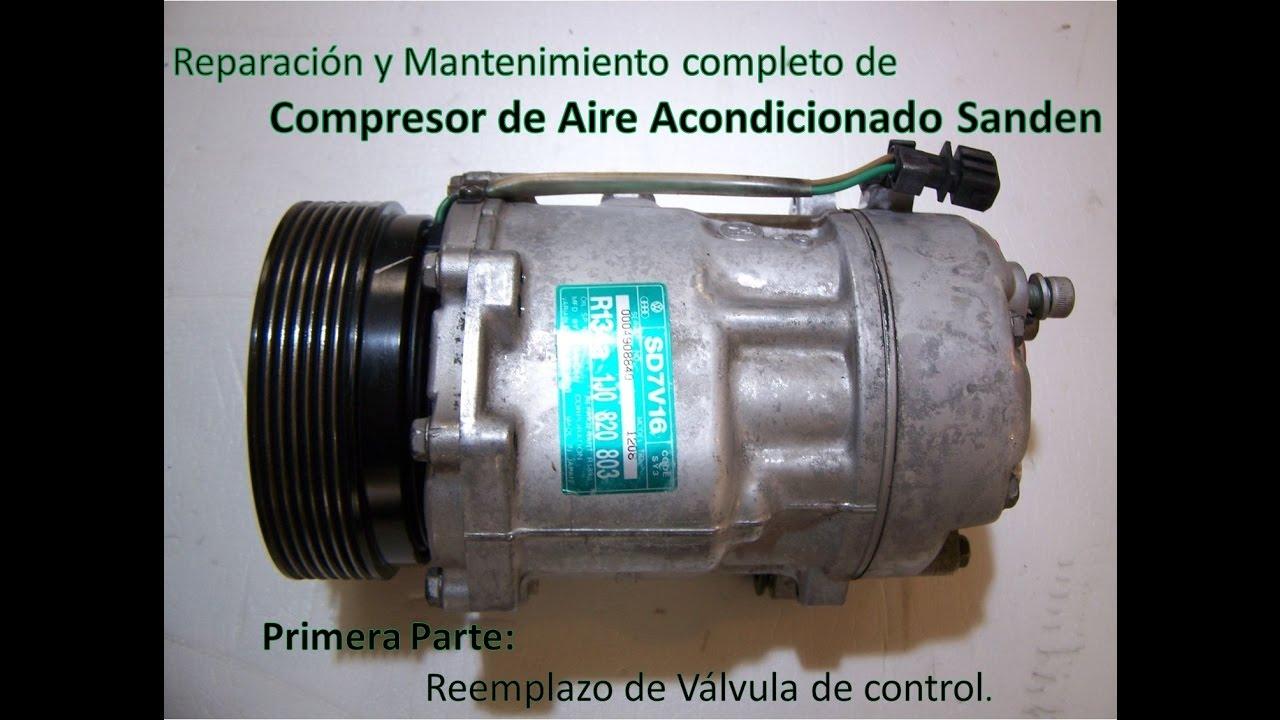 reparacion compresor de aire acondicionado sanden pxv16