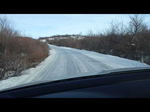 Icy road in Iceland Mar 2014