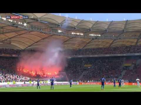 VfB Stuttgart - Karlsruher SC | Pyroshow der KSC Ultras 09.04.2017