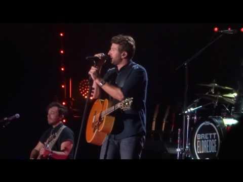Brett Eldredge sings new song The Long Way  at CMA Fest