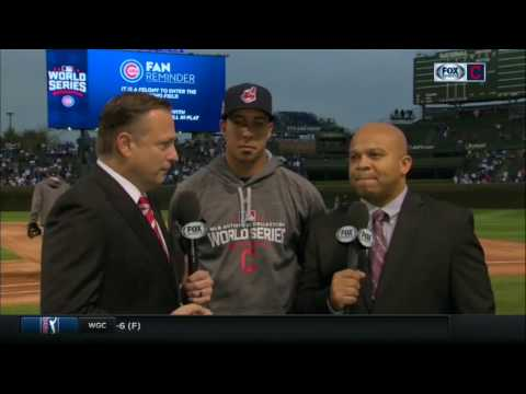 Cleveland Indians injured star Michael Brantley from Wrigley Field during the World Series