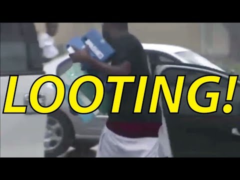Black People STEALIN' — Shameless Looting in Hurricane Irma, Fort Lauderdale, FL