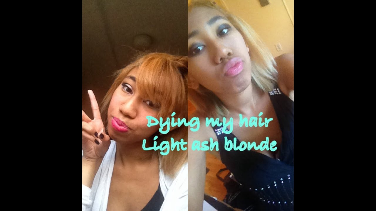 Dying My Hair Revlon Light Ash Blonde Youtube
