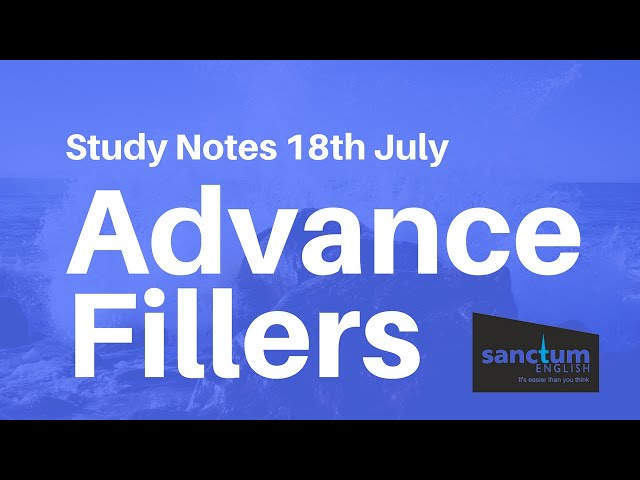 Advanced Fillers | Daily English Quiz18th July | SSC CGL | SBIPO | IBPS | CAT | CDS |