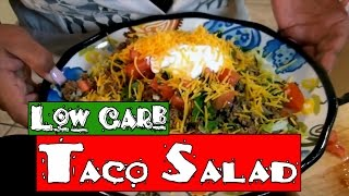 Easy Low Carb Taco Salad! The Best Taco Salad Recipe On Youtube!