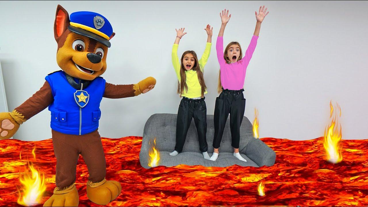 Gisele y Claudia enseñan buenas conductas con Chase de Patrulla Canina Las Ratitas Las Ratitas