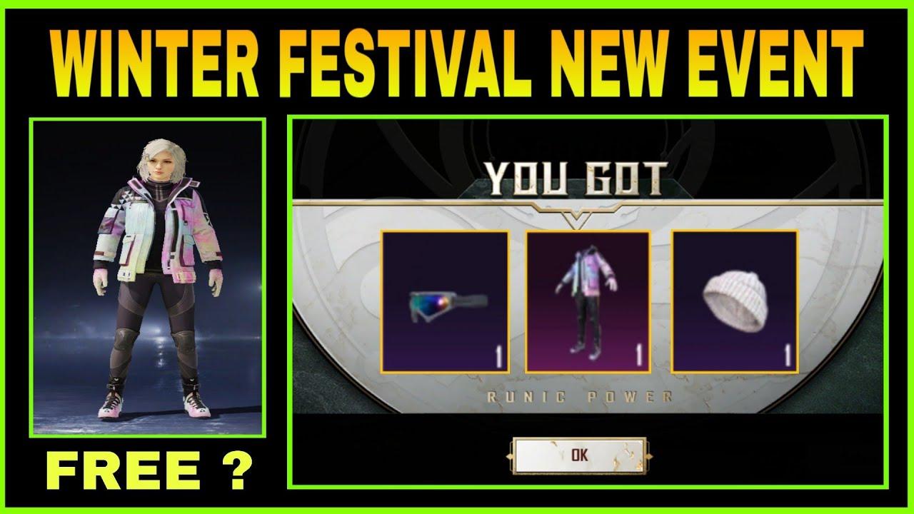 GET PERMANENT DAZZLING SET, GOGGLES & HAT || PUBG MOBILE WINTER FESTIVAL NEW EVENT