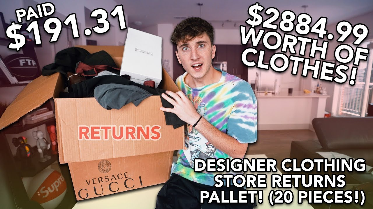 d185fe5c3 I Paid $191.31 for $2884.99 Worth Of MYSTERY Designer Clothes! (Gucci,  Versace & More!)
