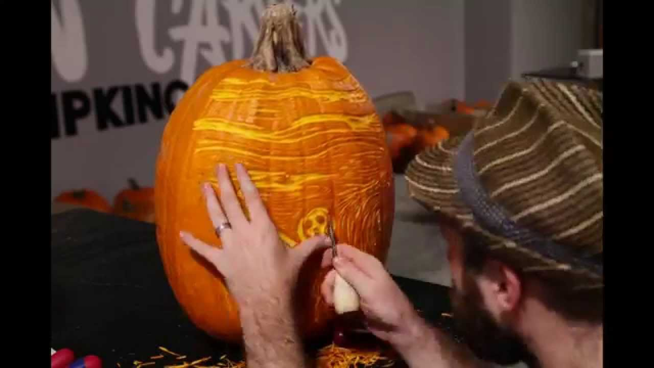 scream pumpkin template - the scream pumpkin carving for moma hd youtube
