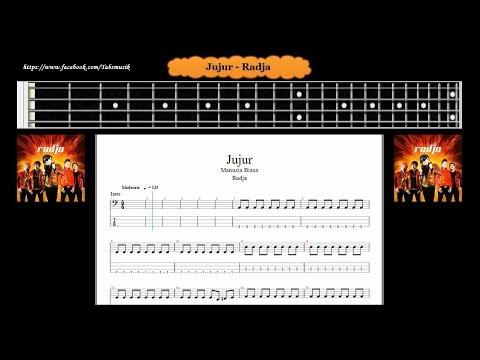 Bass - Jujur - Radja ( Tab Bass Cover )