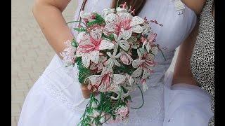 МОЙ СВАДЕБНЫЙ БУКЕТ из БИСЕРА. Tutorial: Wedding bouquet