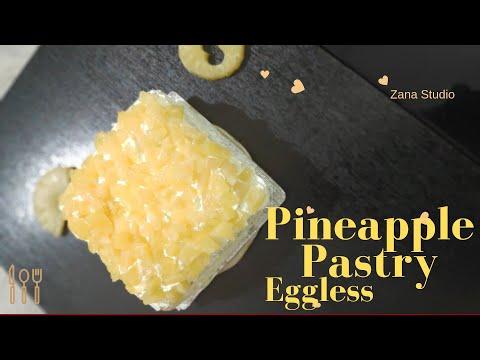 Pineapple cake (Eggless Sponge Cake in cooker)