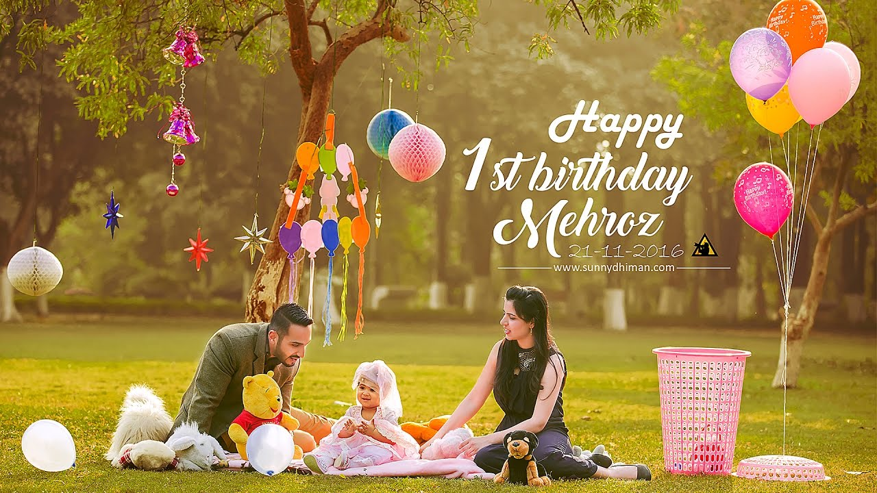 First birthday baby girl mehroz sunny dhiman photography youtube