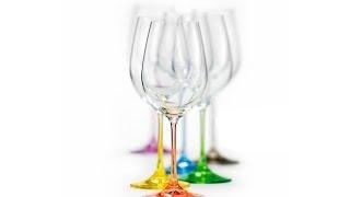 Обзор Posudaclub.kiev.ua - Цветные бокалы для вина Bohemia Rainbow 350мл