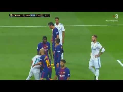 Real Madrid vs Barcelona 2 0  FULL MATCH Spanish Super Cup at Bernabéu 18 08 2017