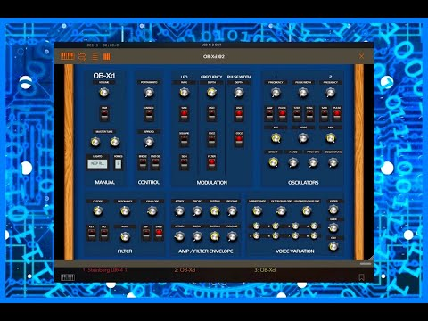 OB-Xd AUv3 Synth based on the Oberheim OB-X - Demo for the iPad