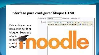 Bloque HTML en Moodle