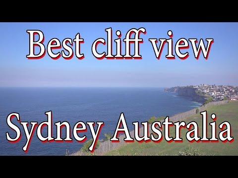 Best cliff ocean view in Sydney Australia full HD 50fps