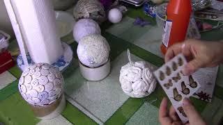 Новогодние шары самым простым способом ХоббиМаркет