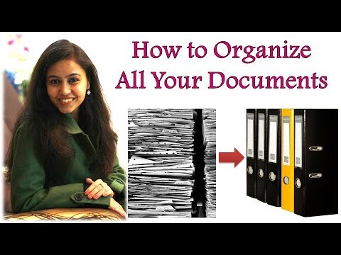 👉How to Organize Important Documents    Guide To Arrange Your Paperwork