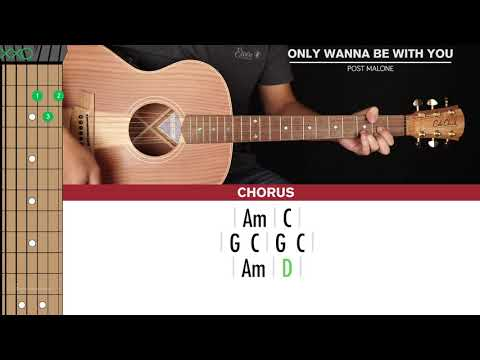 Only Wanna Be With You Guitar Cover Post Malone 🎸|Tabs + Chords|