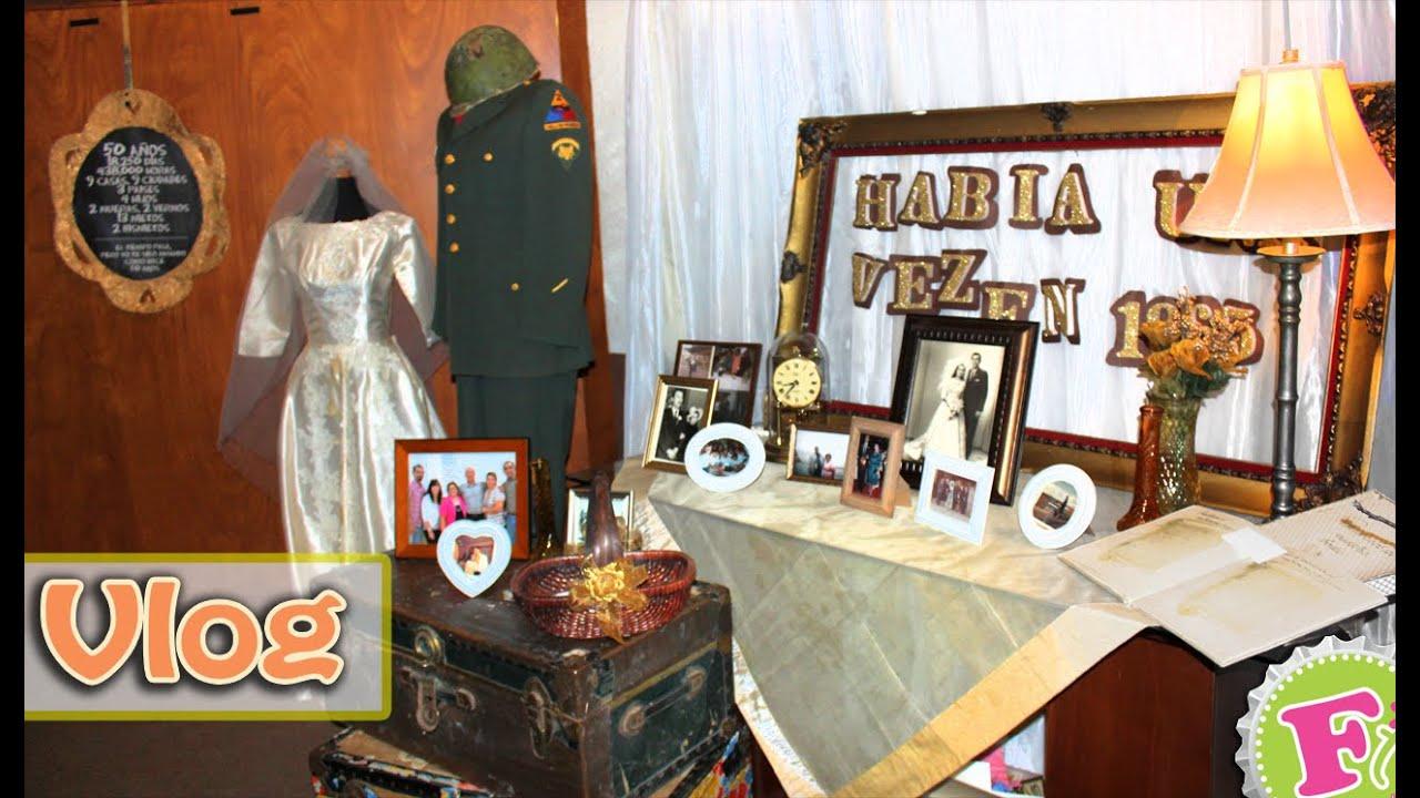 Escenario vintage para bodas de oro 50 aniversario idea for Decoracion casa anos 60
