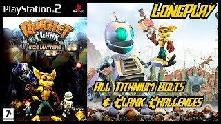 Ratchet & Clank Size Matters - Longplay (All Titanium Bolts/Clank Challenges) Full Game Walkthrough
