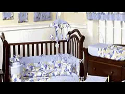 Blue and Khaki Camouflage Baby Boy Crib Bedding Set