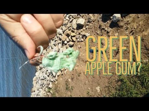 FISHING WITH GREEN APPLE BUBBLEGUM!