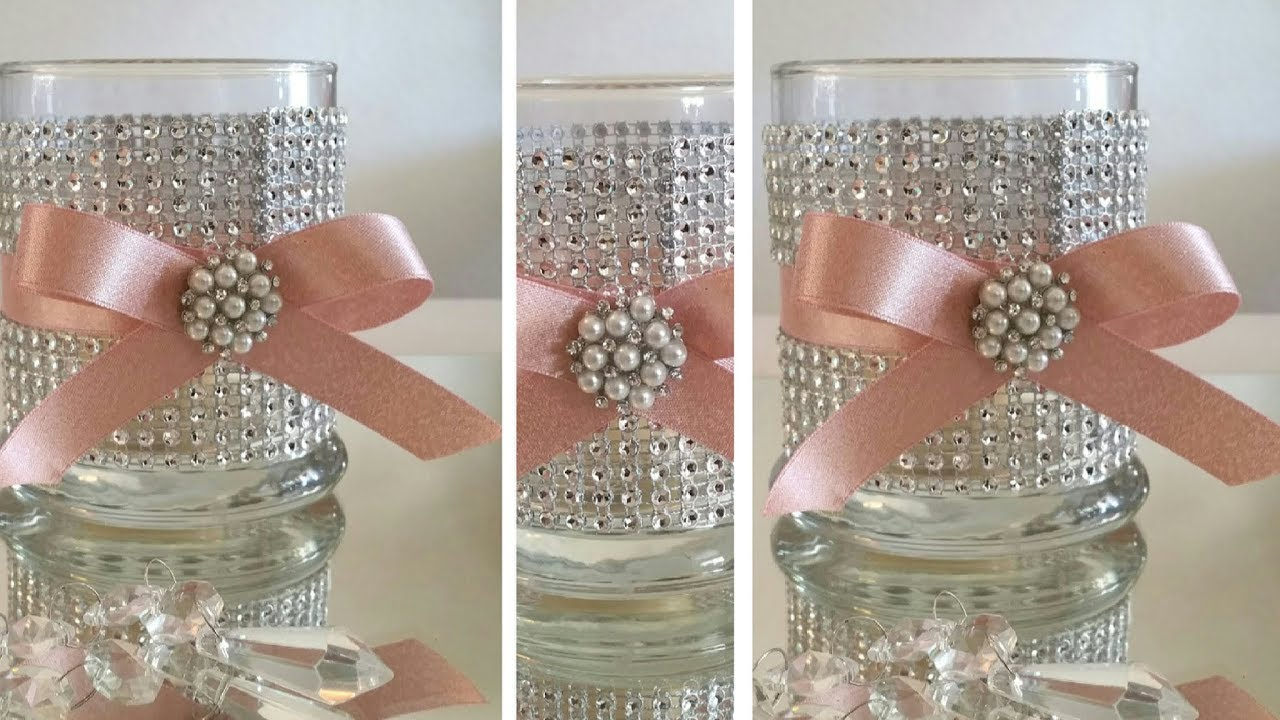 Download DIY | BLING CANDLE HOLDER DECOR | BLING AND GLAM | DOLLAR TREE DIY | INEXPENSIVE DIY