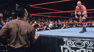 """""""Stone Cold"""" Steve Austin and Mr. McMahon clash in the 1999 Royal Rumble Match"""