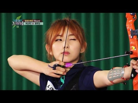 Let's Go! Dream Team II | 출발드림팀 II - SISTAR & 4Minute : Archery Rival Match (2013.07.06)