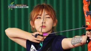 SISTAR vs. 4Minute: Archery Rival Match! - A sport that's more like...