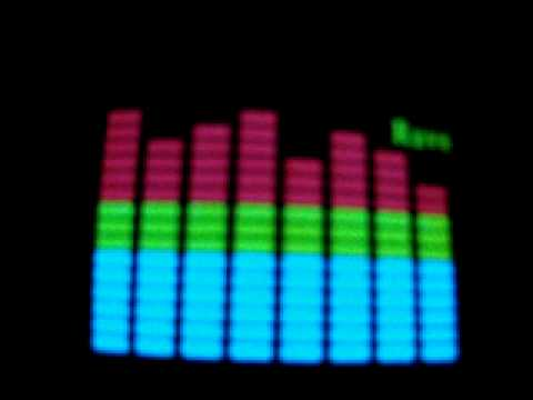 Sound and Music Activated Spectrum VU Meter EL Visualizer T-shirt - S